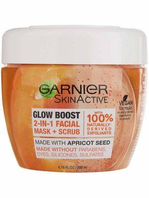 Garnier – Skinactive Glow Boost  2 en 1 mascarilla y exfoliante