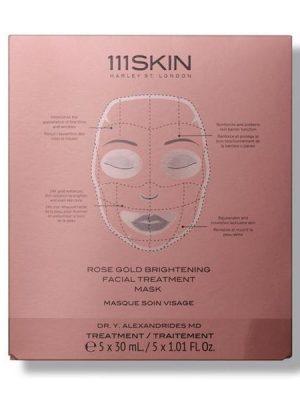 111SKIN- Mascarilla de tratamiento facial iluminador de oro rosa